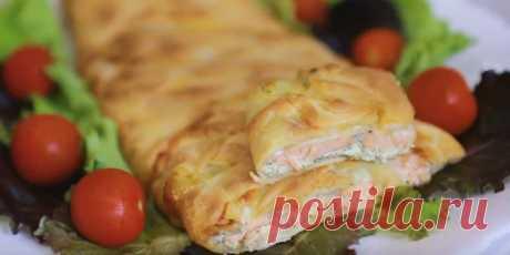 Пошаговый рецепт пирога с красной рыбой - ИзыскON С недавних пор я «подружилась» с тестом и стала часто баловать свою семью разными пирогами. Дети, ес