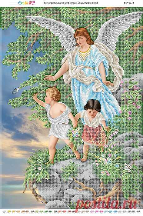 Ангелы Хранители БСР-2114 Ангел Хранитель. Схема для вышивки бисером Сяйво БСР купить в Украине, цена 95,00 грн БСР-2114