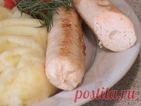 Домашние куриные сосиски. (homemade sausages)