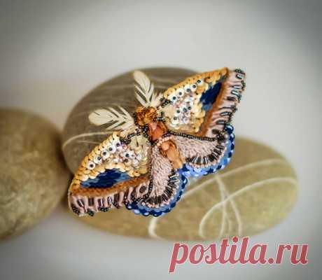 Красивые вышитые бисером бабочки и бабочки | Бусы