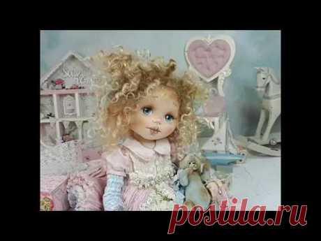 Оленька - Пироженка .Кукла из ткани