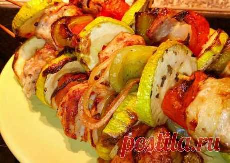 """(6) """"Шашлык из свинины с овощами"""" (в духовке) - пошаговый рецепт с фото. Автор рецепта Lena . - Cookpad"""