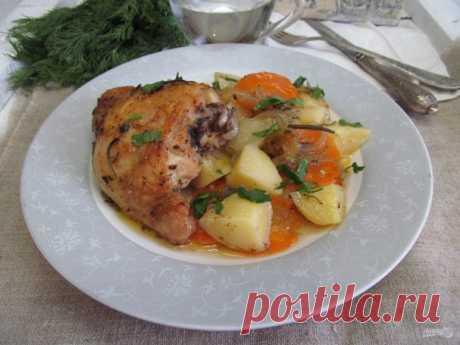 Курица в духовке с картошкой в пакете для запекания