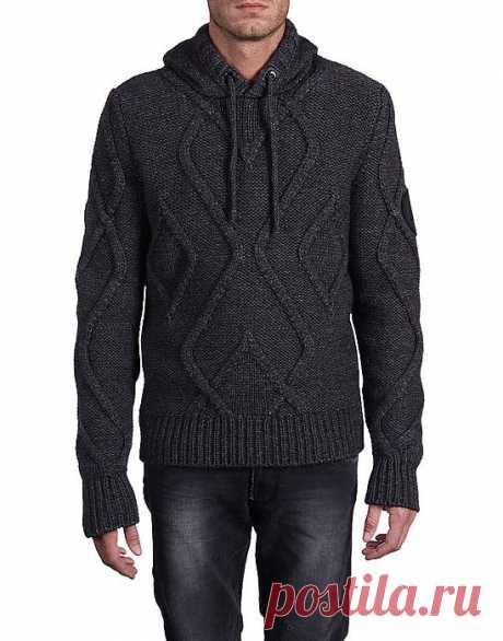 Айвенго - арановый свитер спицами.