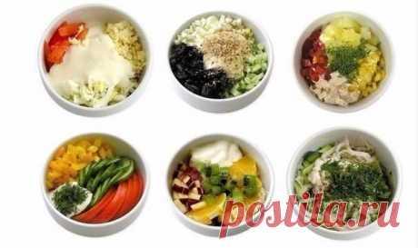Рецепты порционных салатов.