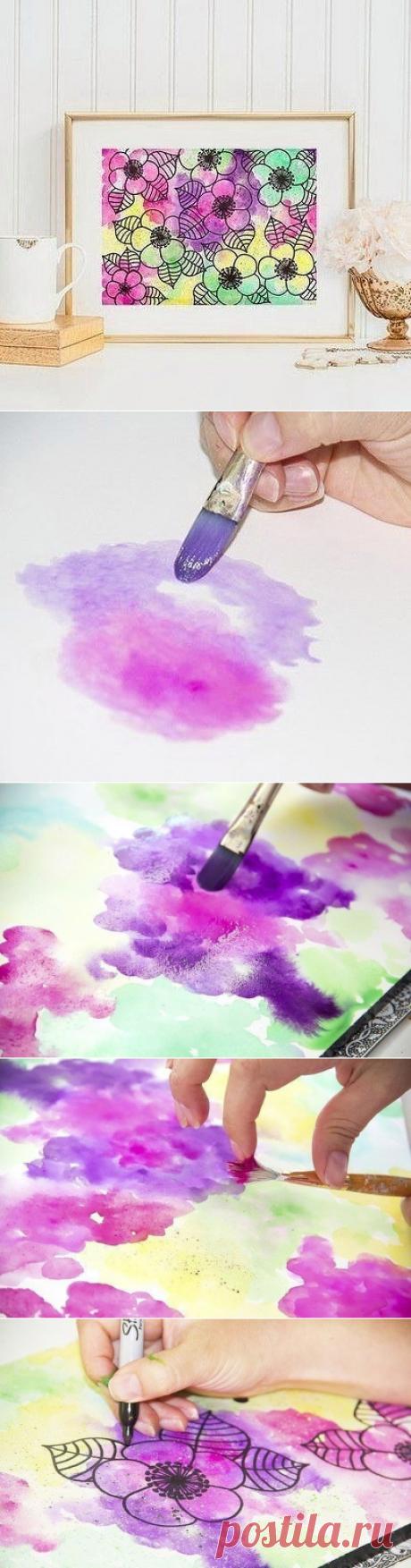 Цветочное панно своими руками