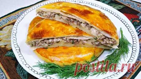 Приготовила тонкие пироги-лепешки с мясом и сыром. Делюсь простым рецептом (можно и с другими начинками) | Розовый баклажан | Яндекс Дзен