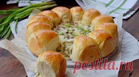 Как приготовить булочки-малышки с сырно-грибной начинкой - рецепт, ингредиенты и фотографии