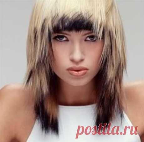 Креативное окрашивание стрижки Каскад на средние волосы | Стрижки и Прически