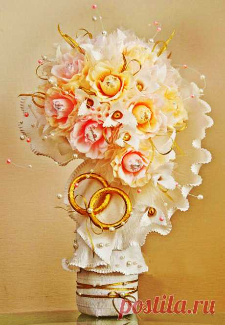 Candy bouquets. Three master classes with examples
