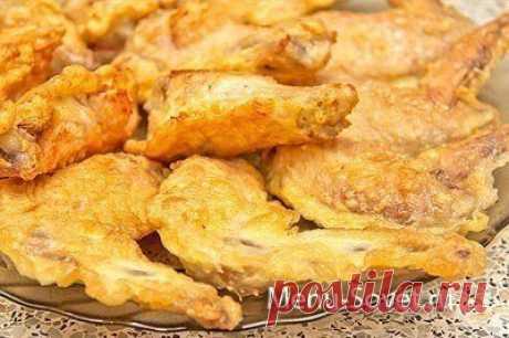 Как вкусно приготовить куриные крылышки в кляре