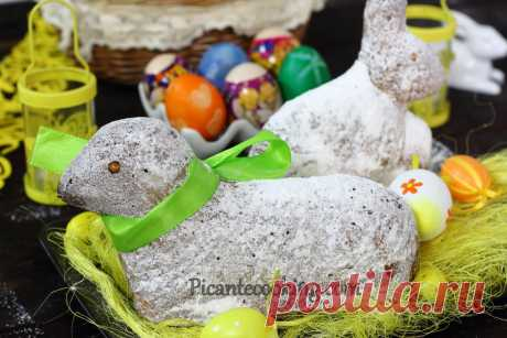 Великодній баранчик (Baranek Wielkanocny) Праздничный пасхальный барашек из кексово-песочного теста, традиционное польское пасхальное лакомство.