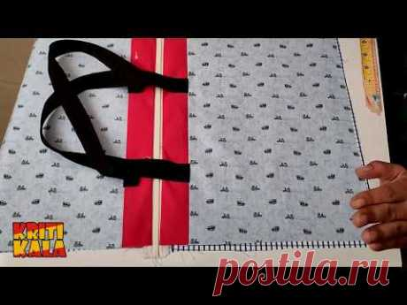 How to Make Ladies Purse Bag - DIY Tote Bag - Beginner's Sewing Tutorial