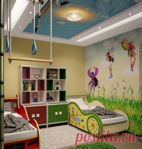 Практичные идеи для детской комнаты: 40 фото ~ ALL-DEKOR