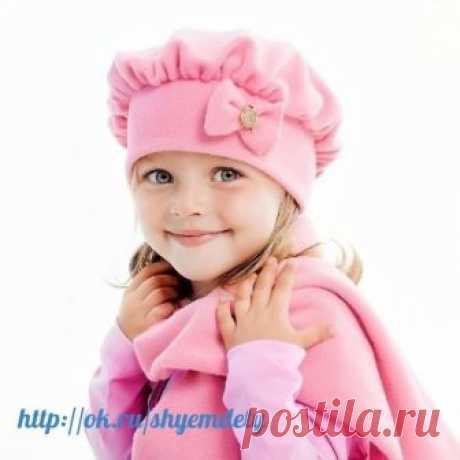 Шьем детскую шапочку из флиса