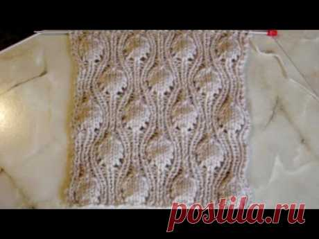 Объемный узор крупными шишечками Вязание спицами Видеоурок 106