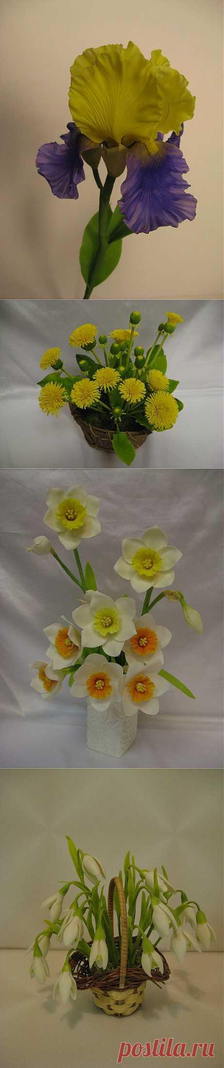 (+1) тема - цветы из полимерной глины и не только   Очумелые ручки