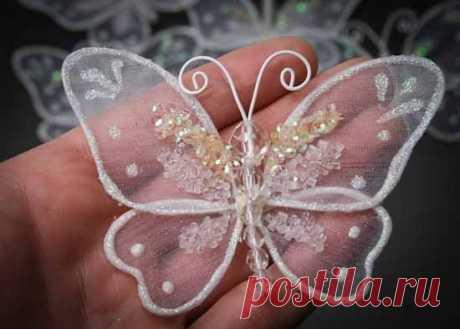 Декоративные бабочки из капрона: мастер-класс