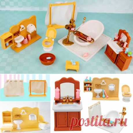 Пластиковых ванной туалет миниатюрных куклы дом мебель игрушка набор декор ванной комнаты – продажа товаров по низким ценам, в каталоге товаров из Китая. Бесплатная доставка и большой выбор.