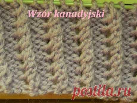 Ściągacz kanadyjski*Wzór kanadyjski*Robótki na drutach *Wzory na drutach*