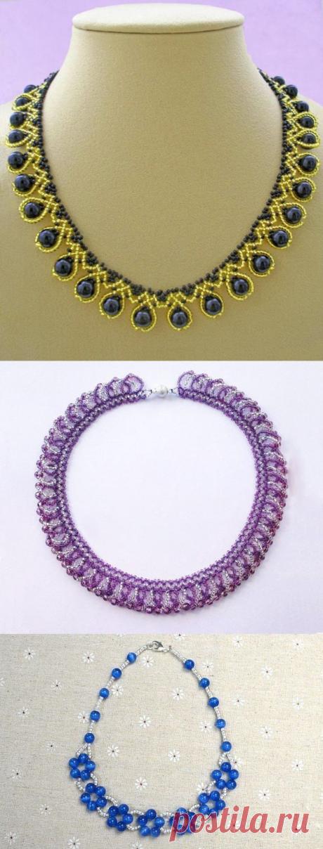 Красивые ожерелья из бусин и бисера — Сделай сам, идеи для творчества - DIY Ideas