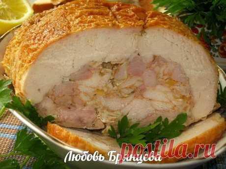 Праздничная куриная ветчина - шикарная закуска! Украсит любой праздничный стол!