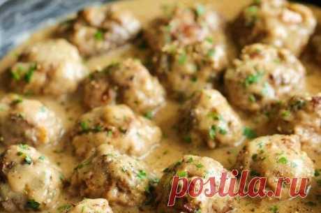 Правильный ужин: куриные шарики в сырно-сливочном соусе - Полезные советы красоты
