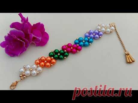 How To DIY Simple Pearl Bracelet// Beads Bracelet// Useful & Easy