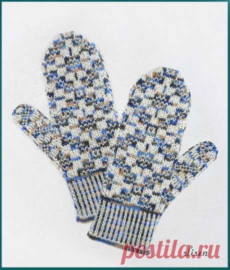 "Knitting. Jacquard - ""Зимняя радуга"""
