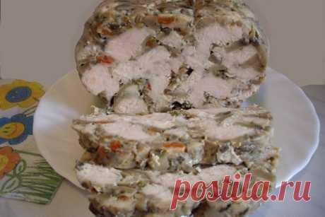 Домашняя буженина из курицы с шампиньонами — Sloosh – кулинарные рецепты