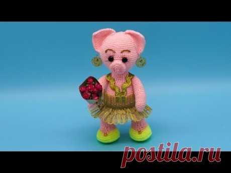 Поросенок амигуруми. Вязание поросенка крючком. Свинка крючком. Часть 3. (crochet piggy. P. 3)