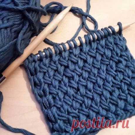 """Быстрое вязание узором """"плетёнка"""", спицами .  И для шарфов, и для ковриков"""