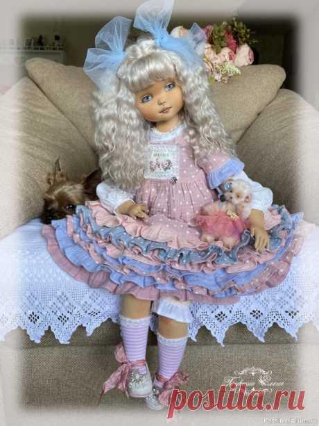 Коллекционная текстильная кукла. | Куплю-продам