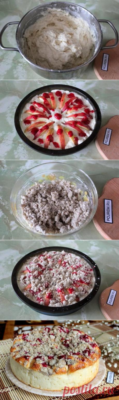 Творожный пирог с яблоками - пошаговый рецепт с фото: как приготовить