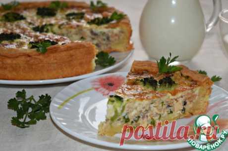 Рыбный пирог с брокколи - кулинарный рецепт