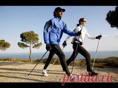 Скандинавская ходьба для начинающих в любом возрасте. Nordic walking.