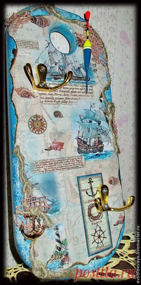 """Ключница """"Для тех, кто в море"""" - ключница,море,морская тема,морской стиль"""