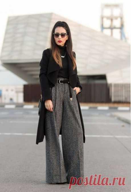 Модные брюки в образах