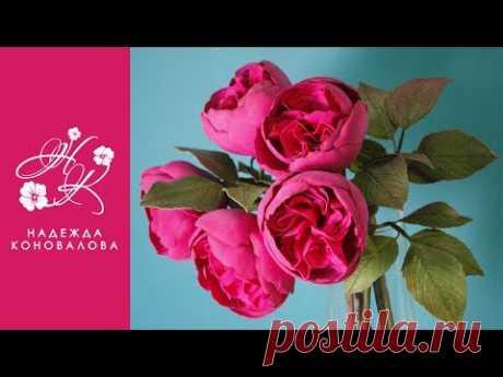 """Привет! Сегодня завершающее видео в серии видео-мастер-классов по созданию летней цветочно-ягодной композиции """"Ягодное чаепитие"""". И сегодня мы сделаем розу и..."""