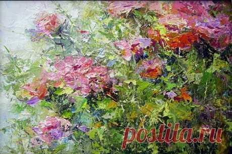 Чувственно-неясные, лёгкие цветы...Евгений Лоскутов (Evgeny Loskutov).
