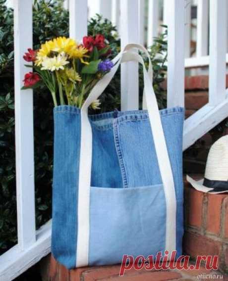 Летняя сумка из джинсов.