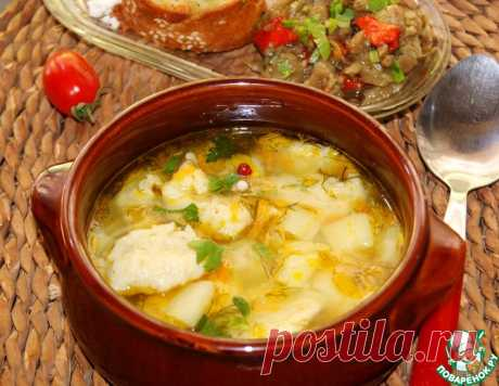 Суп с масляно-чесночными клецками – кулинарный рецепт