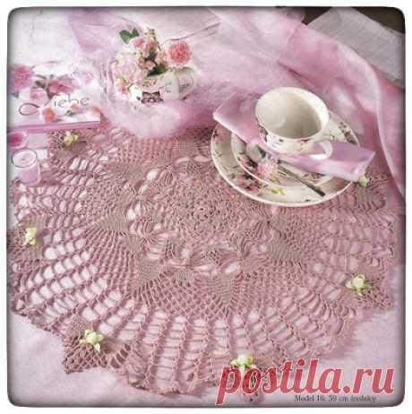 Crochet Heklanje: Šema 7 - Ukrasna salveta