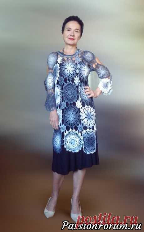 Платье-туника - запись пользователя TatianaLitvinova (Татьяна) в сообществе Вязание крючком в категории Вязание крючком. Ваши работы