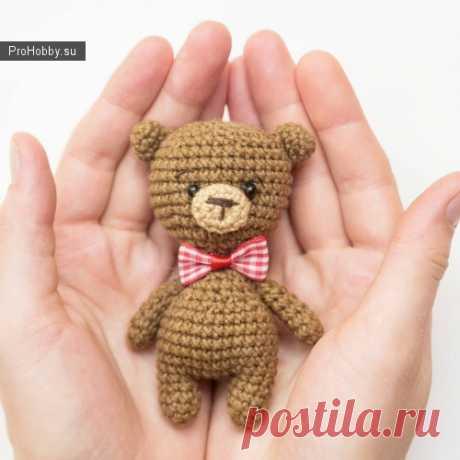 Маленький простой мишутка / Вязание игрушек / ProHobby.su | Вязание игрушек спицами и крючком для начинающих, мастер классы, схемы вязания