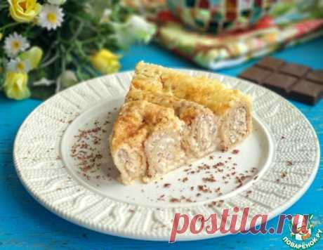 Блины с творогом под яично-сметанной заливкой – кулинарный рецепт
