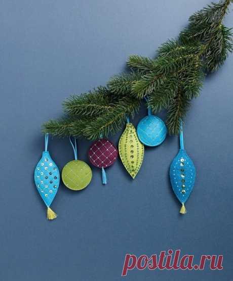 Яркие Рождественские игрушки своими руками