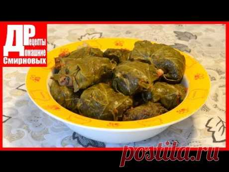 STUFFED CABBAGE WITH MUSHROOMS! Fast, in grape leaves. The original recipe stuffed cabbage from pearl barley!