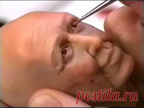 Лепим голову куклы часть 8   YouTube - YouTube