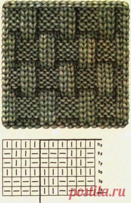 Узор спицами для любителей вязания!
